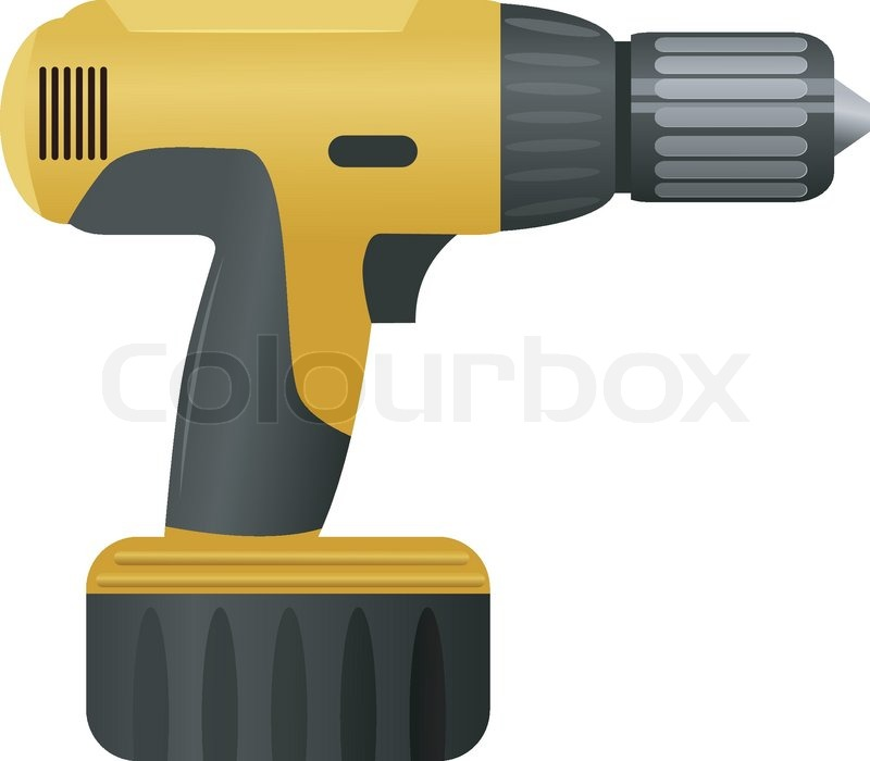 Vector Illustration Of A Drill Stock Vector Colourbox