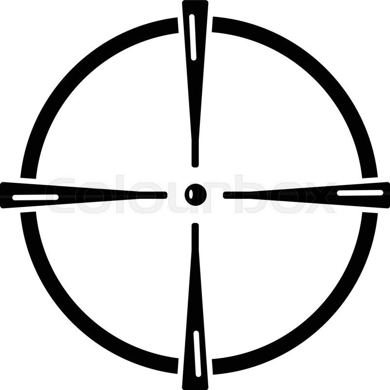Paintball Gun Sight Icon Simple Stock Vector Colourbox