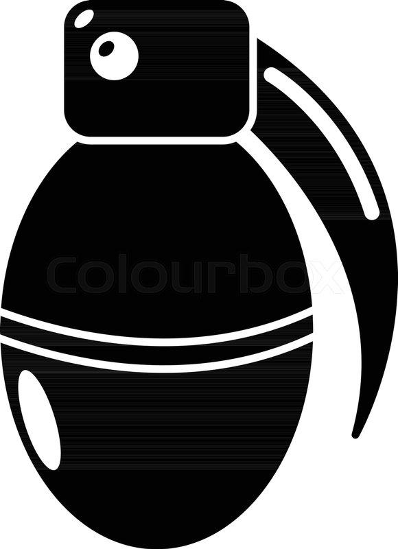 paintball grenade ammunition icon simple illustration of paintball rh colourbox com