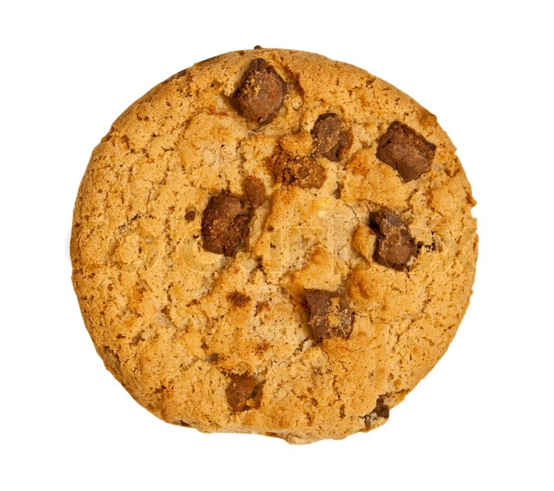 Chocolate Chip Cookie Isolated On White Background Stock