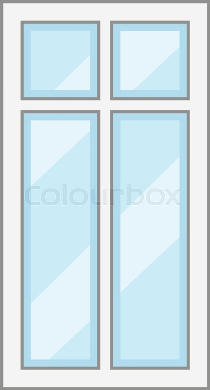 Modern window frame icon. Cartoon illustration of modern window ...