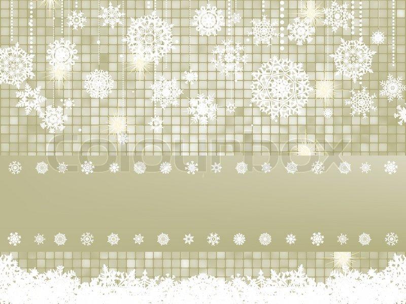 Elegant Christmas Background With Snowflakes Stock Vector: Elegant Christmas Background With Snowflakes