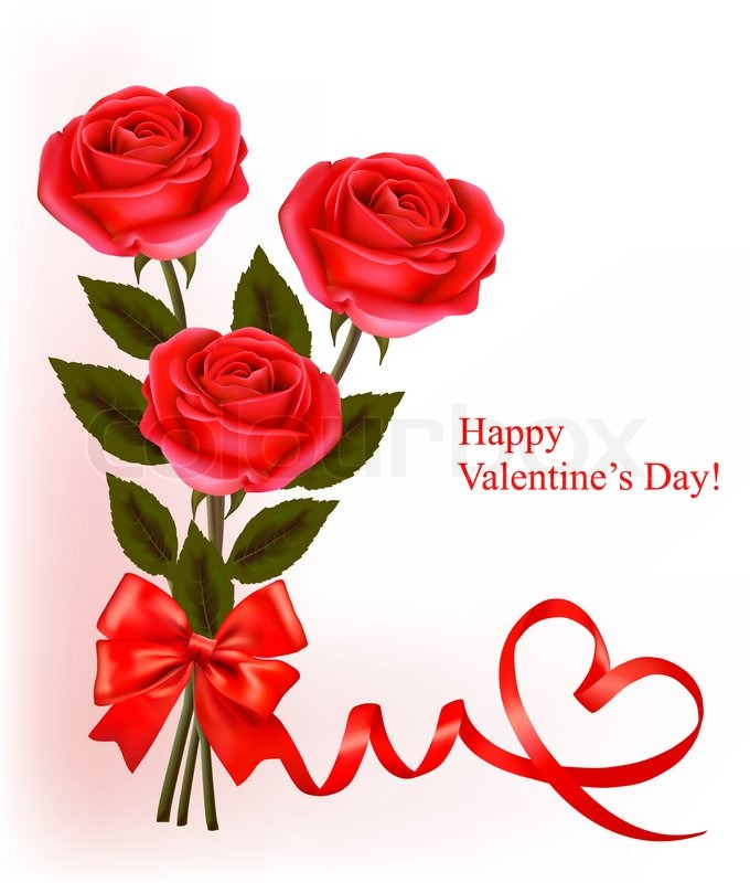 valentine`s day background. red roses and gift red bows | stock, Ideas