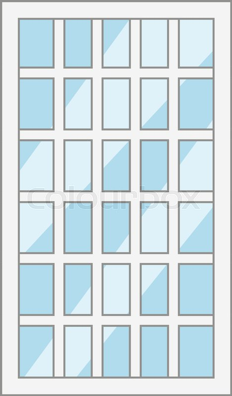 Lattice window frame icon. Cartoon illustration of lattice window ...