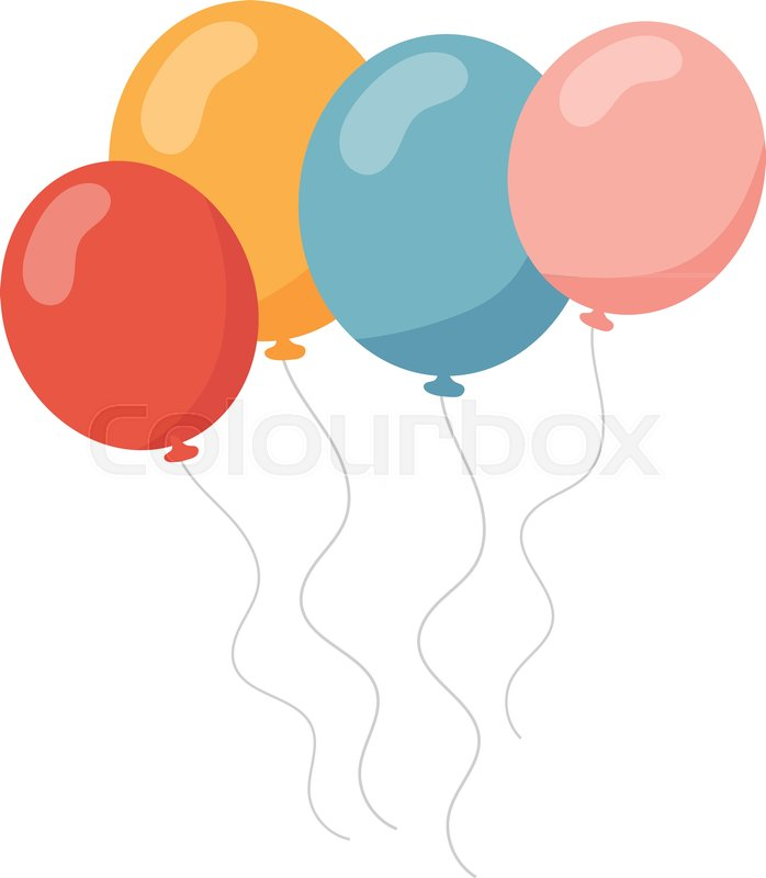 Bunch Of Balloons In Cartoon Flat Stock Vector Colourbox Cartoon balloons free vector we have about (20,323 files) free vector in ai, eps, cdr, svg vector illustration graphic art design format. bunch of balloons in cartoon flat