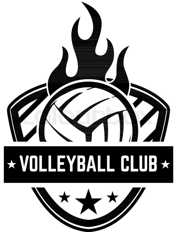 Emblem Template With Volleyball Ball Stock Vector Colourbox