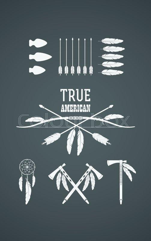 Set Of American Indian Tribal Symbols Native American Cultural