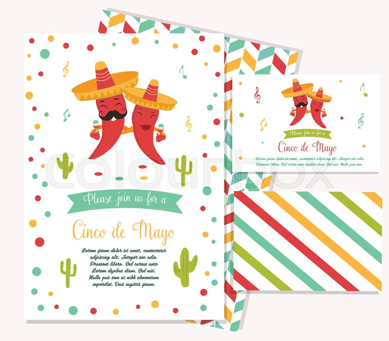 Cinco de mayo poster template with bright mexican characters and cinco de mayo poster template with bright mexican characters and symbols vector illustration vector stopboris Image collections