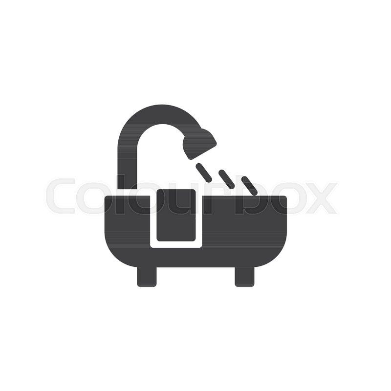 Bathtub Vector Icon Filled Flat Sign For Mobile Concept And Web Design Bath Simple Solid Bathroom Symbol Logo Illustration