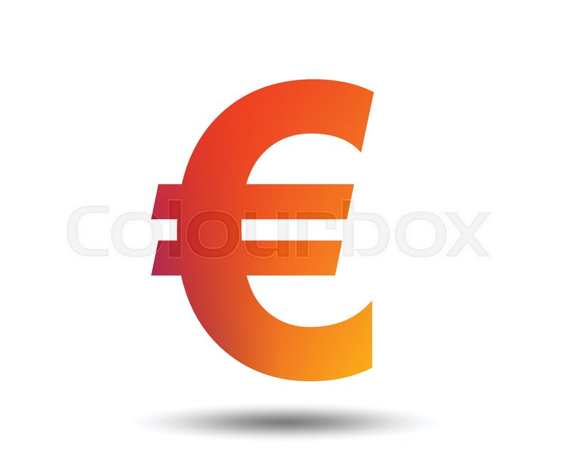 Euro Sign Icon Eur Currency Symbol Money Label Blurred Gradient