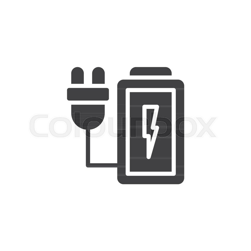 charging battery vector icon filled stock vector colourbox charging battery vector icon filled