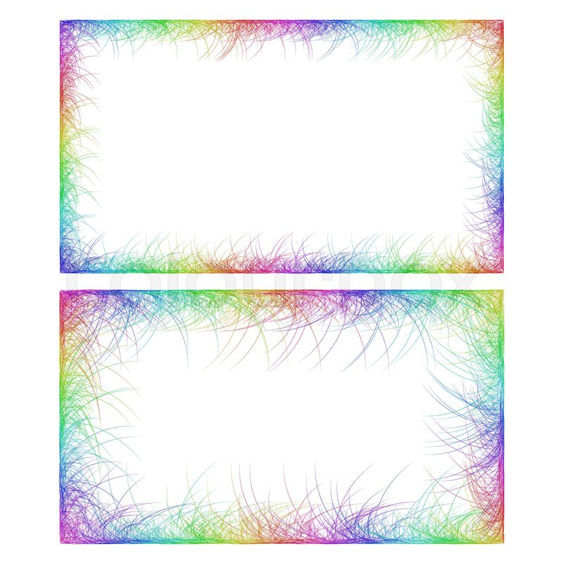 Sketch business card border templates in rainbow colors stock sketch business card border templates in rainbow colors stock vector colourbox fbccfo Gallery