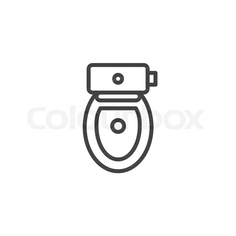Awe Inspiring Toilet Bowl With Seat Cover Top View Stock Vector Beatyapartments Chair Design Images Beatyapartmentscom