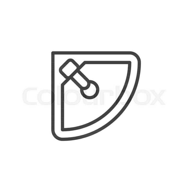 Bathroom Furniture Simple Line Vector Icon Symbol Logo Illustration Pixel Perfect Graphics