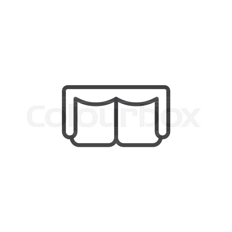 Groovy Sofa Top View Outline Icon Linear Stock Vector Machost Co Dining Chair Design Ideas Machostcouk