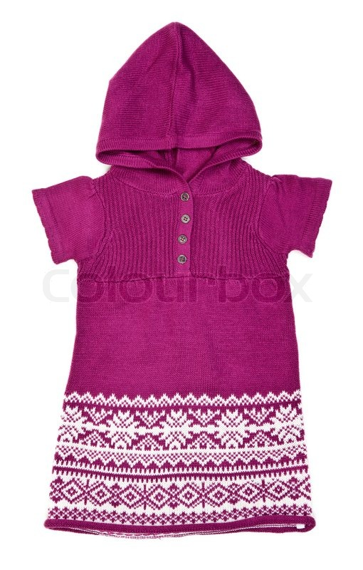 Knitted sweater with a hood 6