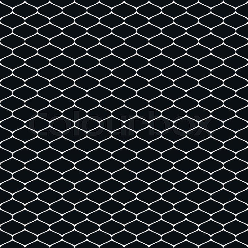 Vector monochrome seamless pattern of mesh, lattice, grid, fishnet ...