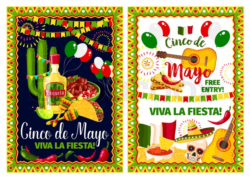 mexican spring holiday invitation poster for cinco de mayo fiesta