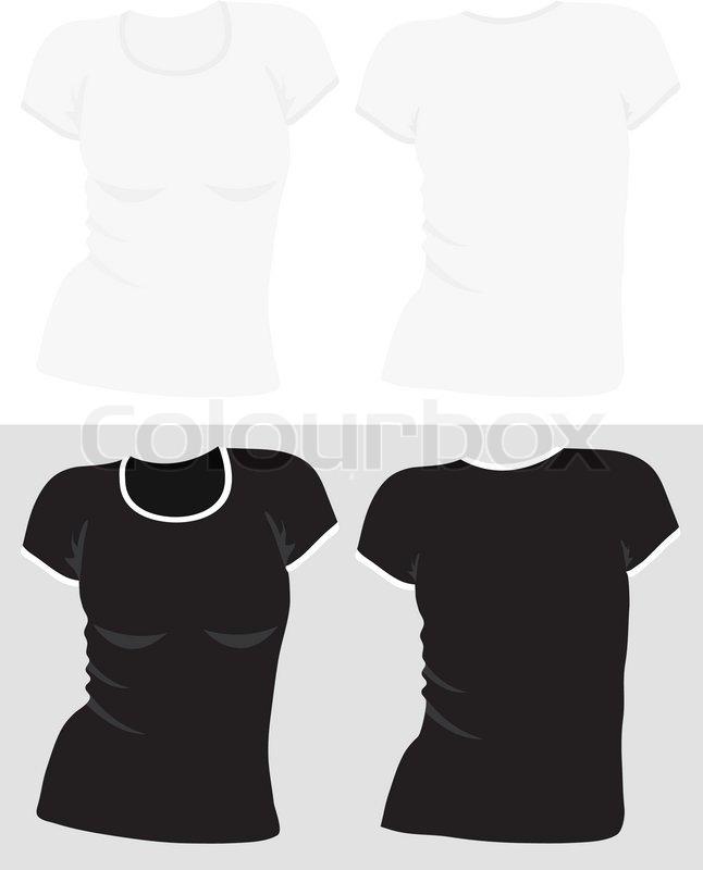 T Shirt Template Vector | Women S T Shirt Template Vector Stock Vector Colourbox
