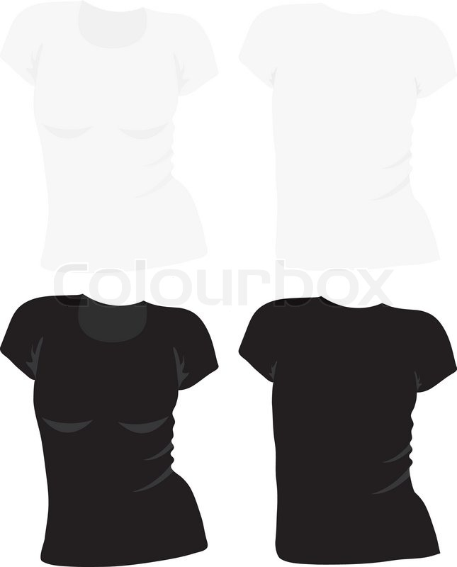 Women\'s t-shirt template, vector | Stock Vector | Colourbox