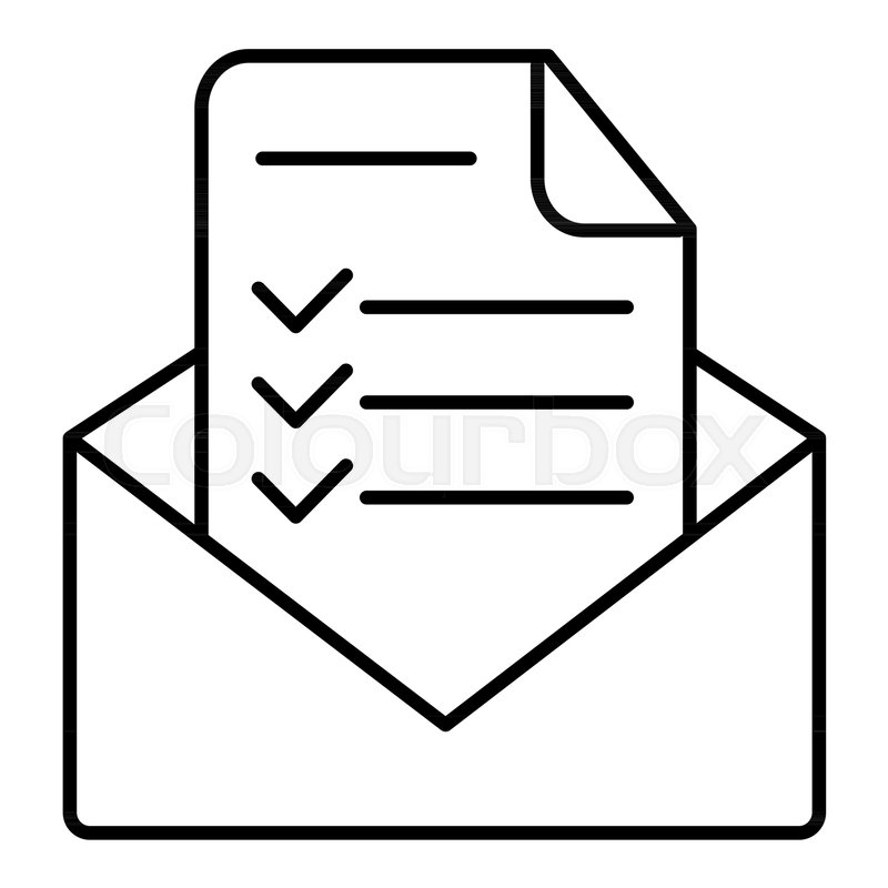 Modern Vector Icon Of Confirmation Letter Approved Document And E