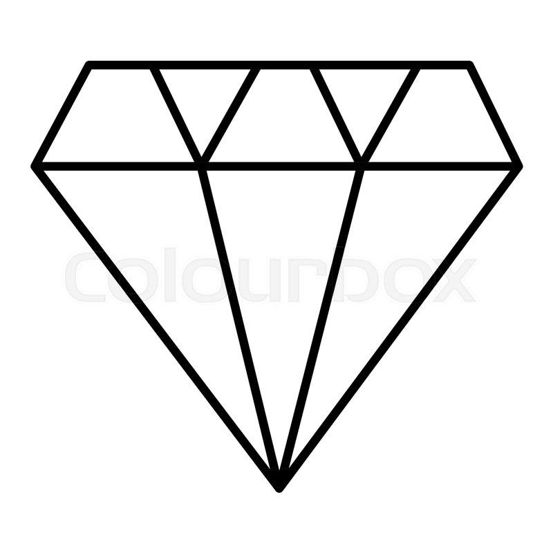 Diamond outline icon, modern minimal ... | Stock Vector ...