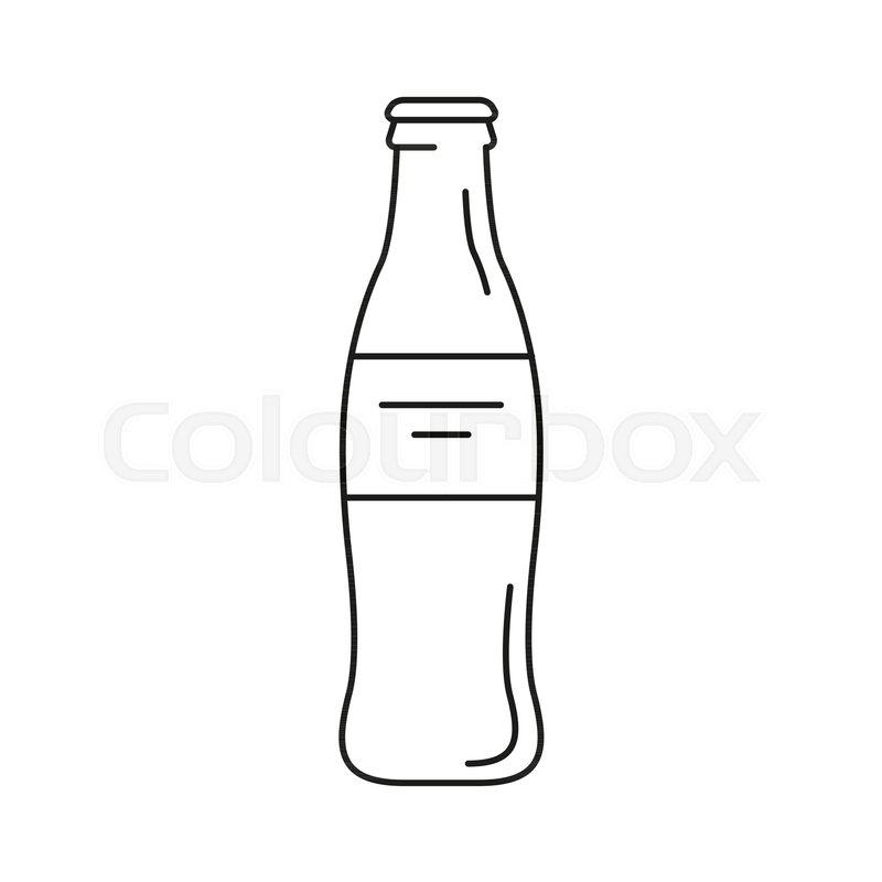 cola bottle icon outline cola bottle   stock vector