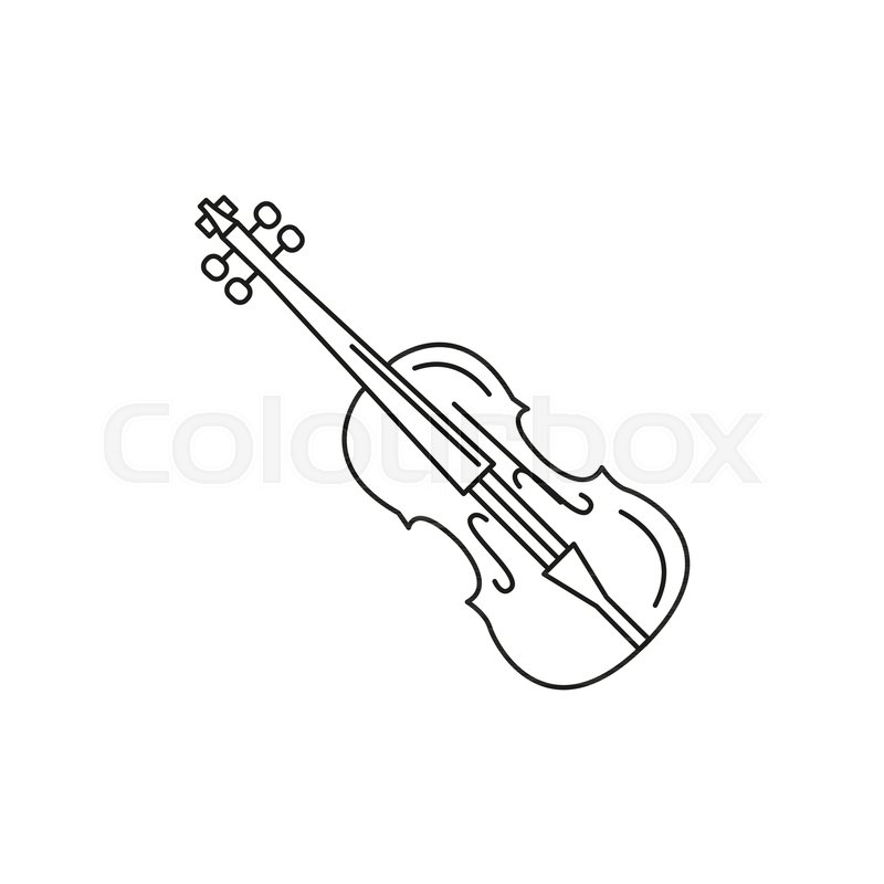 violin icon outline violin vector stock vector