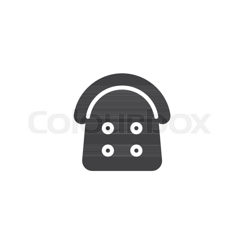 Armchair top view vector icon. filled ... | Stock vector ...