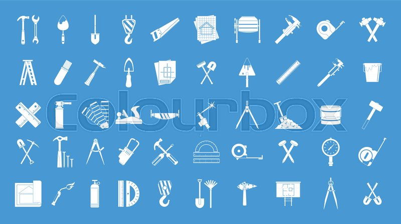 Construction tools icon set  Simple       Stock vector