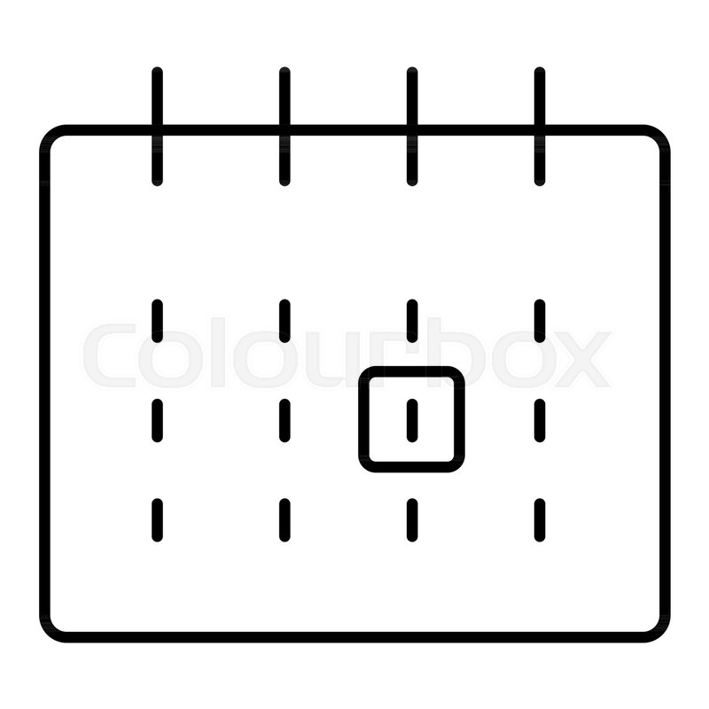 Monthly calendar outlined vector icon        Stock vector