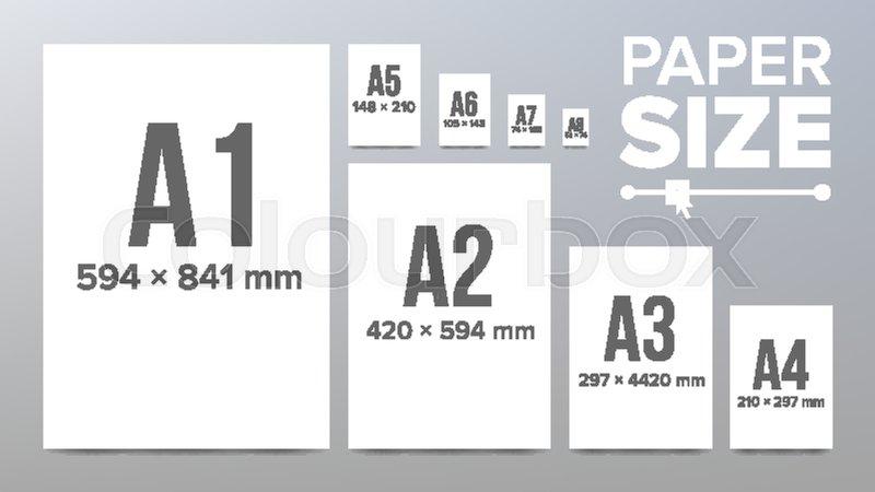 paper sizes vector a1 a2 a3 a4 stock vector colourbox. Black Bedroom Furniture Sets. Home Design Ideas