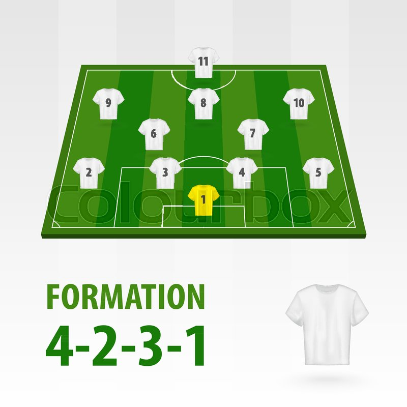 football players lineups formation stock vector colourbox