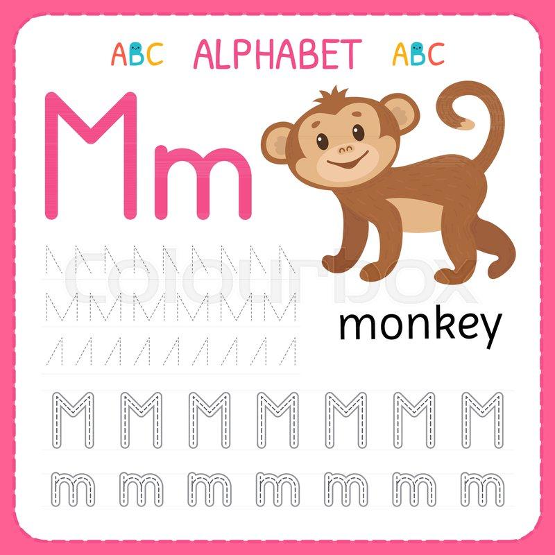 Alphabet tracing worksheet for preschool and kindergarten. Writing ...