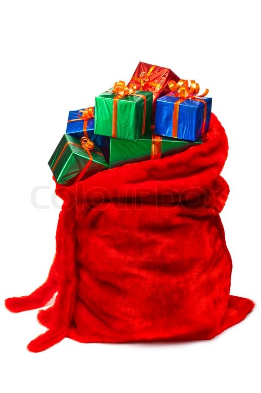 Bag Of Santa Claus With Gifts Stock Photo Colourbox