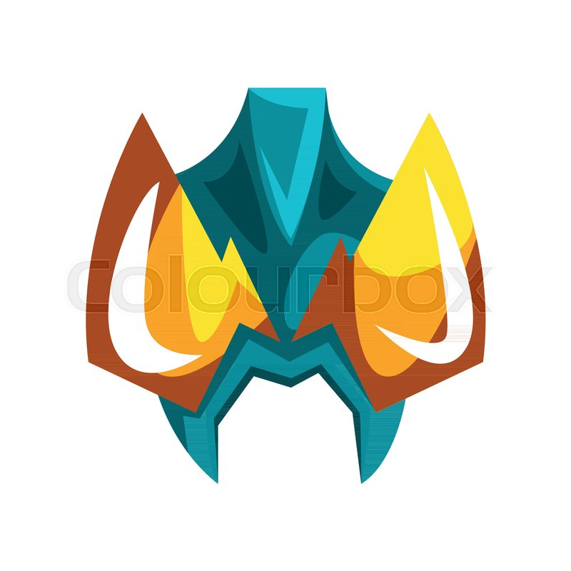 Mask For Hero Or Villain Vector Illustration Isolated On A White