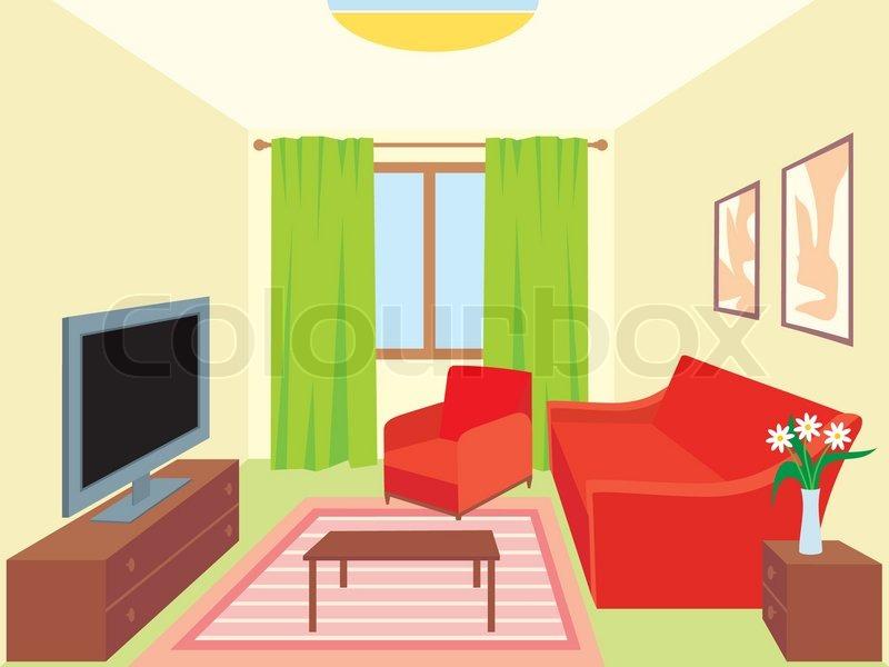 wohnzimmer zeichnung:Living Room Clip Art Free