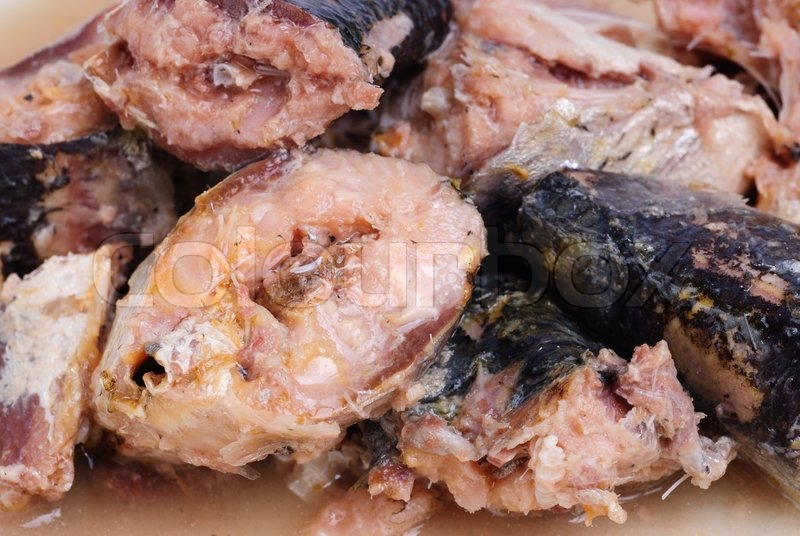 Sprat preserved fish as food background stock photo for Fish as food