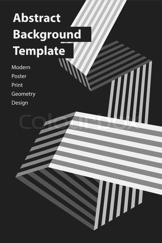 Poster design template with origami     | Stock vector