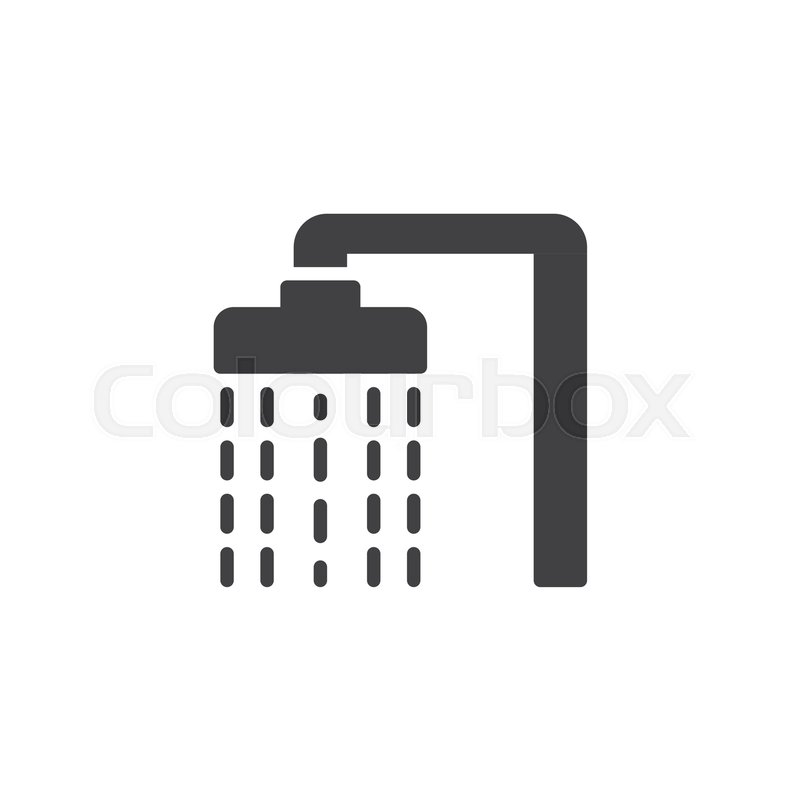 shower head with water drops vector stock vector