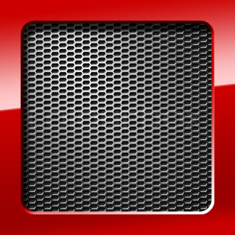 Metal Honeycomb Grid With Red Frame Stock Photo Colourbox