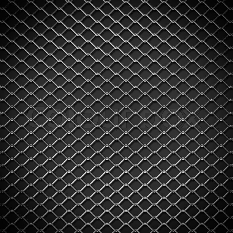 Stock image of 'Metal chain link fence background'