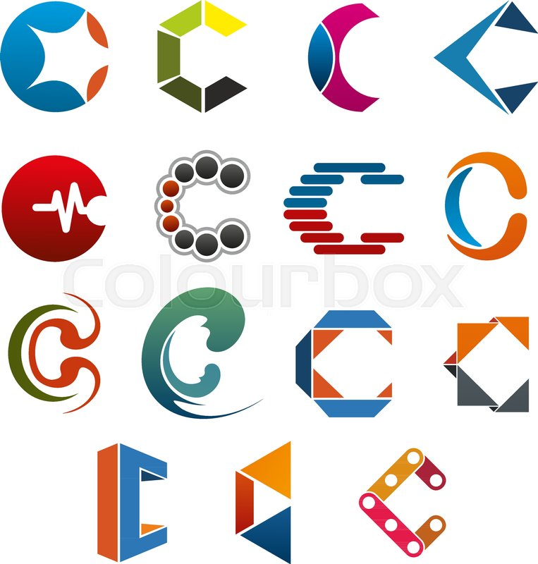 C Letter Icon For Business Corporate Identity Template Abstract