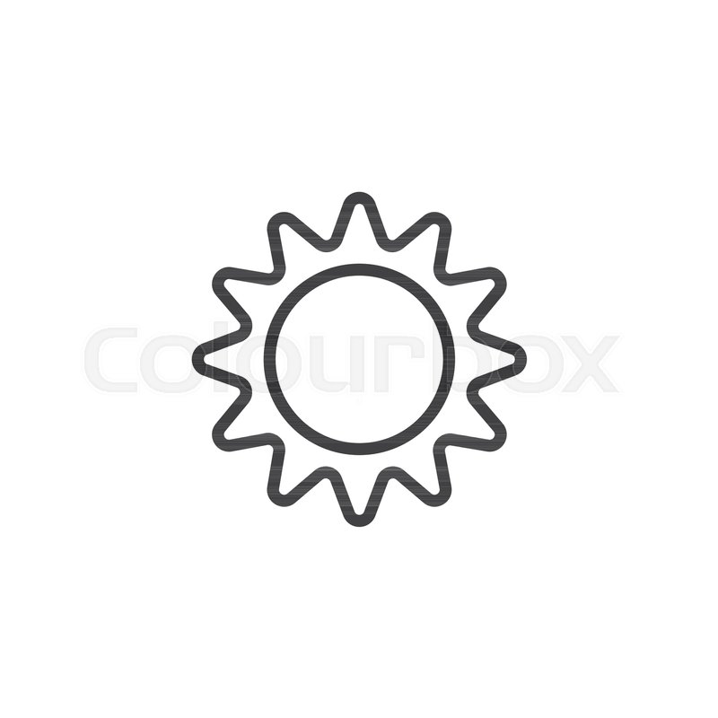 Sun outline icon  linear style sign     | Stock vector