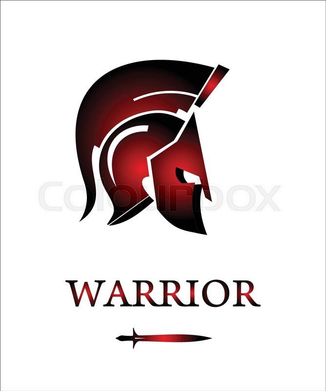 Sparta Warrior Head Trojan Helmet Warrior Profile Warrior With