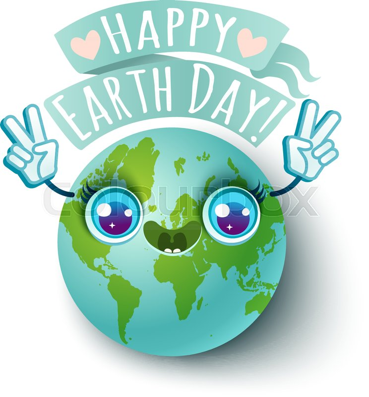Vector Illustration Of A Planet Earth In Kawaii Style Planet Earth