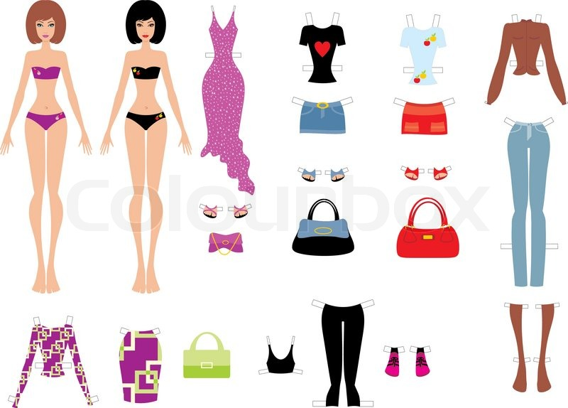 Fashion Body Template Boy And Girl