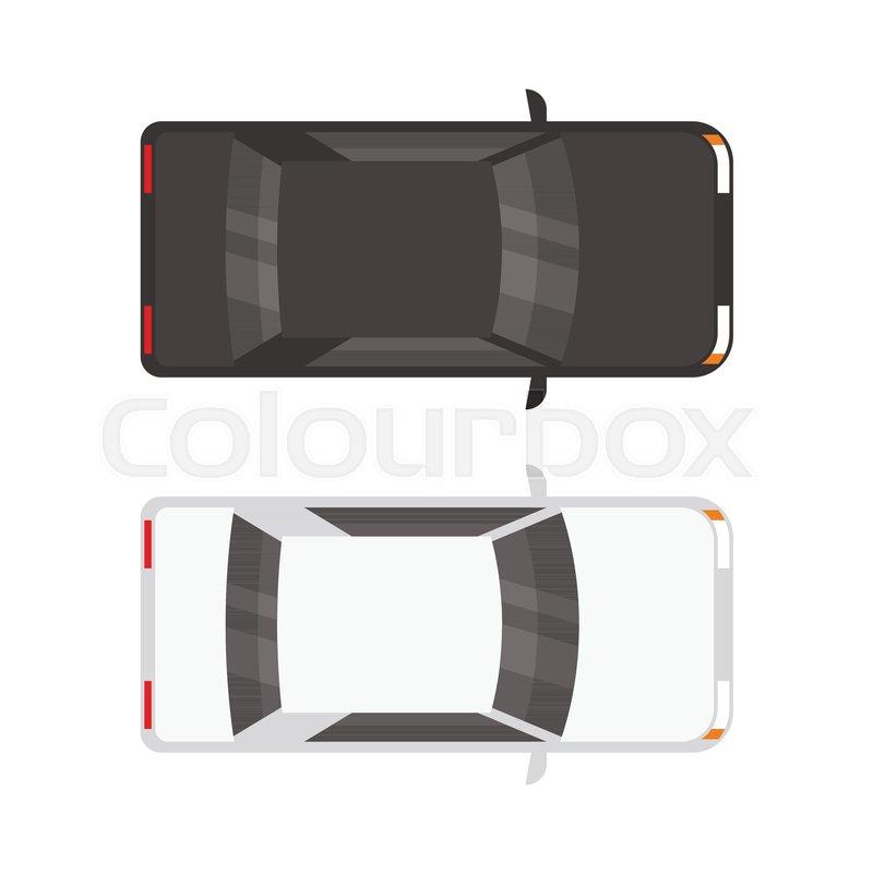 Oben, verkehr, limousine   Vektorgrafik   Colourbox