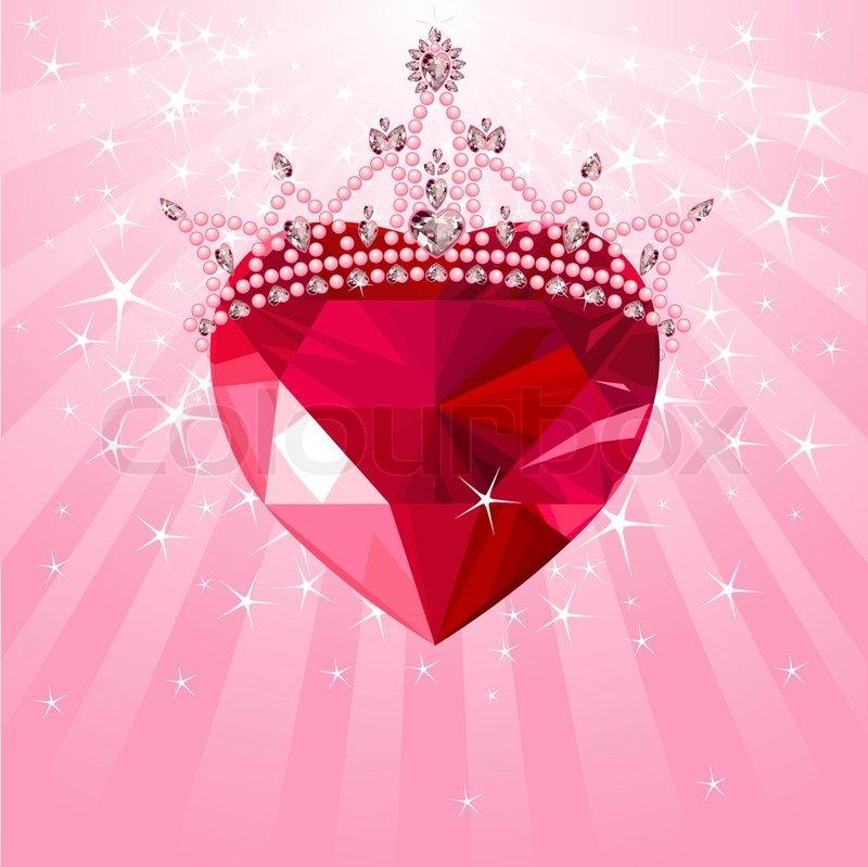 Diamond heart wallpaper