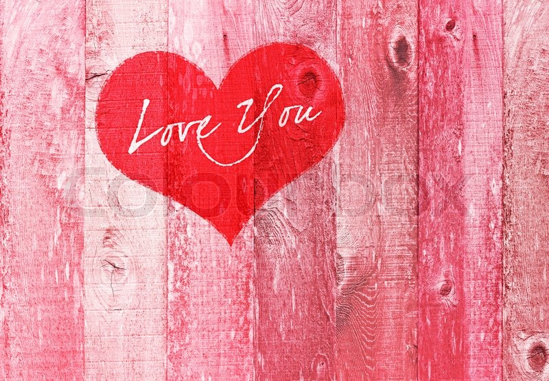 valentines day holiday love you heart greeting on distressed vintage